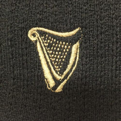 Berretto Guinness Nero in Materiale Riciclato - Logo Arpa - Viaggiare in Irlanda