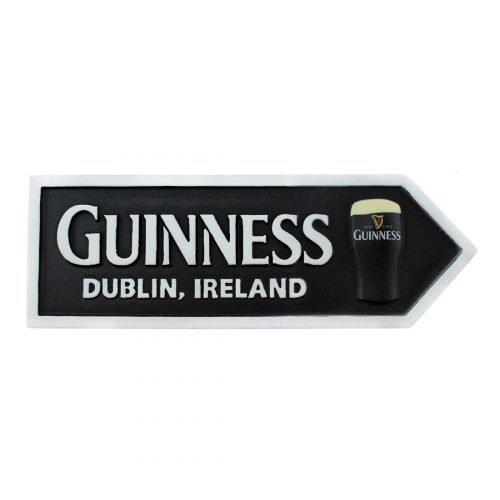 Calamita Guinness a Forma di Segnale Stradale con Pinta - Viaggiare in Irlanda