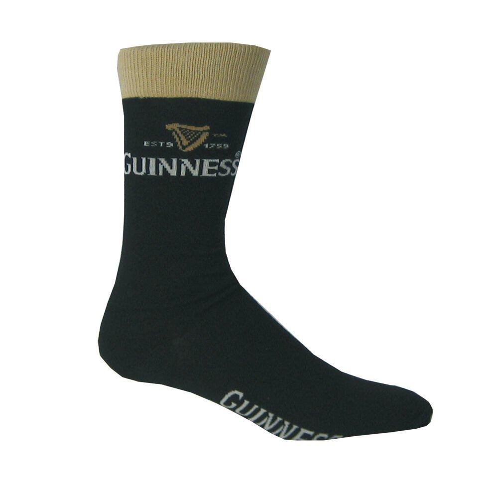 Calzini Guinness Luxury nero e beige con logo Arpa - Viaggiare in Irlanda