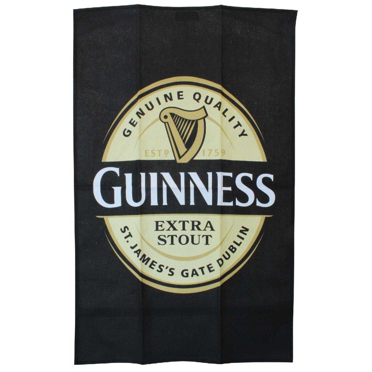 Canovaccio da Cucina Guinness con disegno Etichetta Guinness - Viaggiare in Irlanda