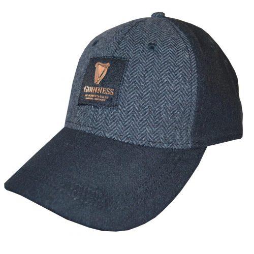 Cappellino Guinness Nero con Tweed Goffrato Grigio - Viaggiare in Irlanda