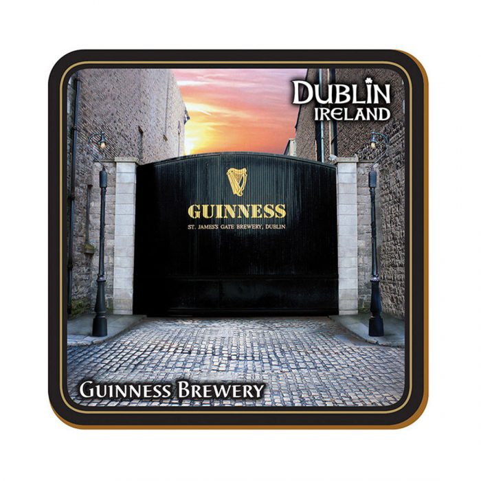 Sottobicchiere Guinness con Immagine del St. Jame's Gate - Viaggiare in Irlanda