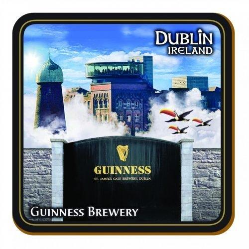 Sottobicchiere Guinness con i Simboli del Tucano, del St. Jame's Gate e della Guinness Storehouse - Viaggiare in Irlanda