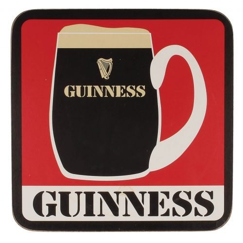 Sottobicchiere Guinness con Stampa Retrò - Viaggiare in Irlanda