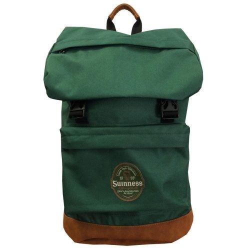 Zaino Guinness Verde con Base in Pelle Scamosciata Marrone - Viaggiare in Irlanda