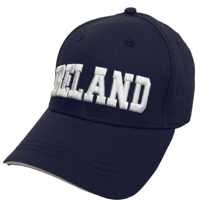 Cappellino da Baseball Navy con Scritta Ireland 3D - Viaggiare in Irlanda