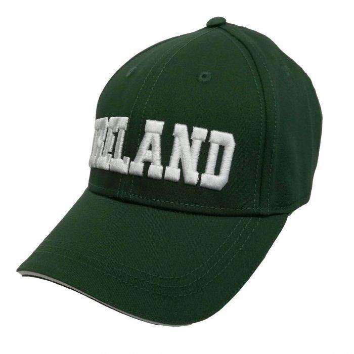 Cappellino da Baseball Verde con Scritta Ireland in 3D - Viaggiare in Irlanda