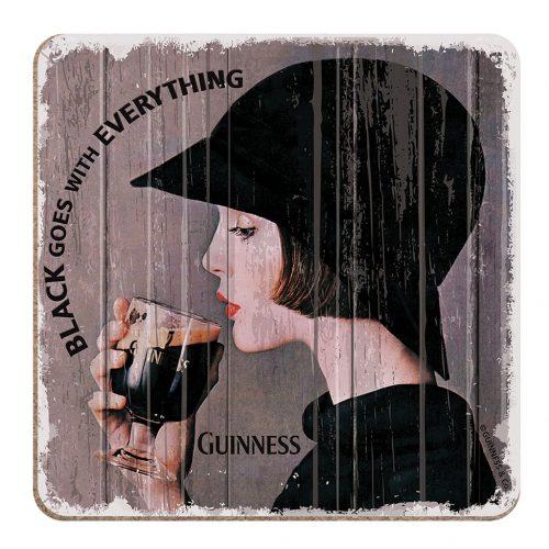 Sottobicchiere Guinness Nostalgico con Donna - Viaggiare in Irlanda